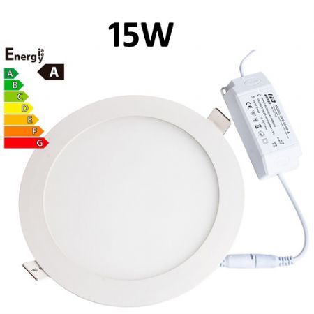 JSG Accessories® LED Round Recessed Ceiling Panel down Light Ultra-slim Lamp Ultra-Thin 15W